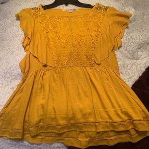 Jolt Mustard Yellow Shirt